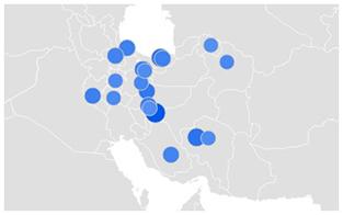 میرسلیم-بررسی تغییر روند جستجوی نام کاندیداهای ریاست جمهوری